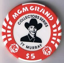 MGM Grand $5.00 Ty Murray Rodeo Collectors Series Casino Chip Las Vegas Nevada