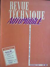 RTA revue technique 164 CAMION UNIC VOITURETTE JET 1959