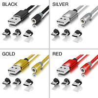 3in1 Ladekabel Magnetisch für iPhone -Lightning, Samsung, Huawei, USB-C Micro