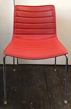 ARPER Catifa 46 Chair - Quilted Red Leather - Lievore Altherr Molina Design