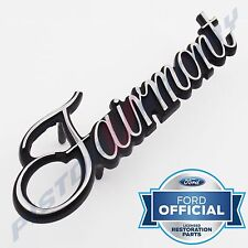 FAIRMONT Boot Badge , Chrome , BRAND NEW for XA XB Ford GS hood centre 3 PINS