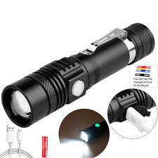 T6 USB Glare Torches Rechargeable Flashlight Police Tactical Zoom Camping Lamps
