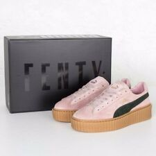 Puma x Rihanna FENTY Creepers Pink and Green Suede Sneakers Excellent Condtn