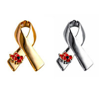 NOBLE RIBBON POPPY BROOCH PIN JEWELRY GIFTS CANCER BADGE BROACH JEWELRY FUNNY
