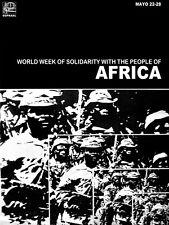 "20x30""Political World Solidarity Socialist Poster CANVAS.Africa rebels.6228"