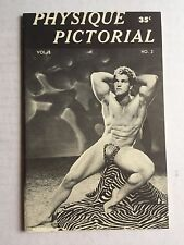 January 1960 Physique Pictorial Gay Men's Magazine w/ Early Tom of Finland Art