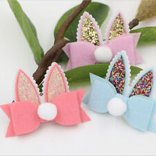 12pcsFelt Bling Rabbit ears Bow DIY Baby hair bow Decoration supplies Accessory