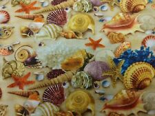 Seashells On The Beach Fabric Scrap Quilt Sew