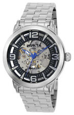 Invicta Objet d' Art 22598 Men's Round Silver Tone Black Analog Automatic Watch
