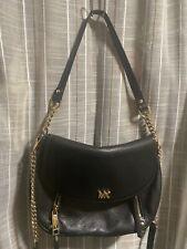 Michael Kors Bedford Evie Black Leather Shoulder Crossbody Bag