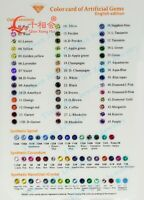 Cubic Zirconia/Corundum/Spinel/Glass Stone Color Chart free DHL
