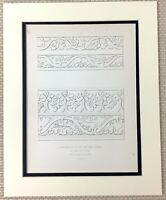 1842 Antico Stampa Intagliato Falegnameria IN Legno San Mary's Hall Coventry Art