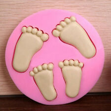 3D Baby Feet Silicone Fondant Mould Clay Chocolate Cake Decor Baking Mold Tools