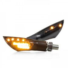 LED Mini-Blinker DUAL schwarz Custom, Cruiser, smoked LED-signals