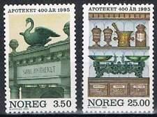 Noorwegen postfris 1995 MNH 1172-1173 - Apotheken 400 Jaar