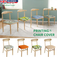 Removable Stretch Slipcovers Dining Chair Seat Cover Soft Cotton Protector Solid