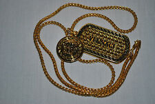 Versace Necklace Hip Hop Chain Gold Plated on best price worn by Tyga,2 Chains