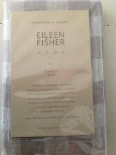 "Eileen Fisher Garnet Hill KING Sham Buffalo Check Grey White ""Pearl"""
