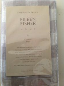 "Eileen Fisher Garnet Hill Euro Continental Sham Buffalo Check Grey White ""Pearl"""