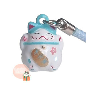 Maneki Neko - Lucky Cat Charm Strap - Protection Success Wealth Love Security