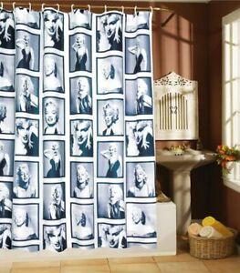 Shower Curtain Marilyn Monroe Design Bathroom Waterproof Fabric 72 inch