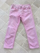 WOMENS TOMMY HILFIGER PINK JEANS, CAPRIS, ROME REGULAR FIT, SIZE 27, #680