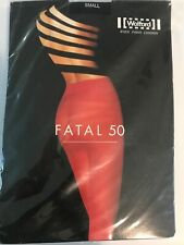 Wolford Fatal semi-opaque 50 Seamless Tights Size: Small Color: Black 10788 - 15