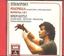 STRAVINSKY - Pulcinella Complete Ballet / Suites 1 & 2 - Simon RATTLE - EMI