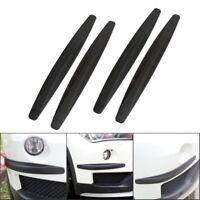 4X Carbon Fiber Front Rear Bumper Protector Corner Guard Scratch Sticker Black
