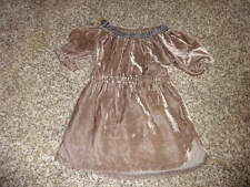Peek Little Peanut L 12-18 Brown Velour Rayon Dress