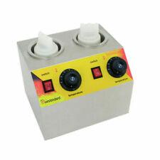Double Sauce Bottles Warmer Hot Cheese Warming Machine Jam Dispenser Melter 110V