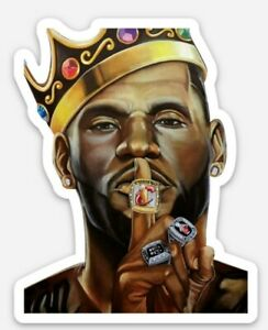 """LeBron James decal sticker 3x3"""" championship pose! buy 1 get 1 free! Lakers cavs"""