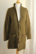 Territory Ahead -Sz S Green Melange Wool Boho Long Knit Sweater Jacket Coat