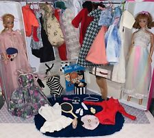 Big Vintage Barbie Dolls & Case With Clothes And Accessories Lot