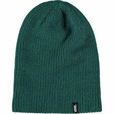 VANS Dark Green Slouchy Knitted Beanie Hat, Unisex, One Size