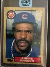 Andre Dawson 2018 Topps Archives Retired Signature Series Buy Back Auto /15
