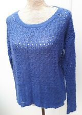 Atmosphere Ladies Size 12 Azure Blue Open Stitch Jumper Summer Knit Wear Sweater