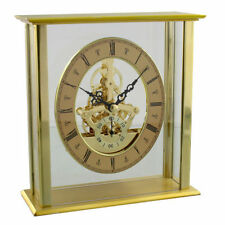 Glass Desk, Mantel & Carriage Clocks with Skeleton Movement
