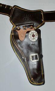 Vintage Wyatt Earp Cap Gun Belt & Holster - Right Handed