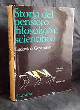 L37> STORIA DEL PENSIERO FILOSOFICO E SCIENTIFICO DI L. GEYMONAT ANNO 1975