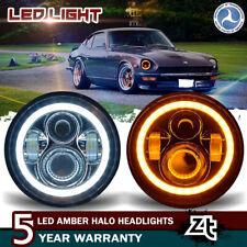"For 1970-78 Datsun 240Z 260Z 280Z 280ZX Headlights 7"" Black LED Headlamps"