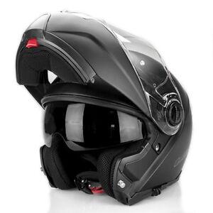 LS2 Strobe Flip Front Motorcycle Helmet Matt Black Motorbike Crash Lids Scooter