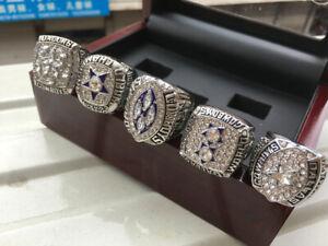 5 Ring 1971 1977 1992 1993 1995 Dallas Cowboys Championship Ring ---//