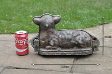 Vintage old baking former sheep shape baking mould old metal mould -FREE POSTAGE