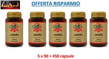 REISHI GANODERMA LUCIDUM 400 MG - 5 x 90 = 450 CAPSULE - ANTISTRESS NATURALE