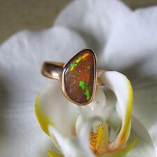 äthiopien black opal  ring, 925 silber, grösse 59, 10 micron 750 gold vergoldet