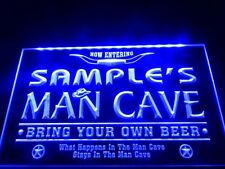 Name Personalized Man Cave Cowboys Bar LED Neon Beer Sign