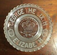 Collectable Vintage 1937 King George The Sixth Coronation Glass Bowl