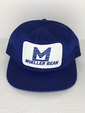 Vintage Mueller Bean Mesh Trucker Hat K Products Made in USA