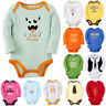 Newborn Infant Kids Baby Boy Girl Romper Jumpsuit Bodysuit  Long Sleeves Clothes